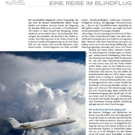 a view back 7 years – article about Cloud Call Center in INTRE 02/2011
