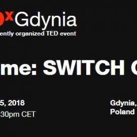 TEDx on 15th February 2018 with Oktawia as speaker